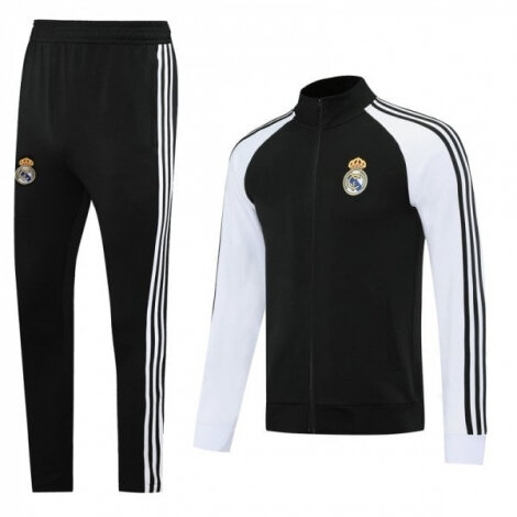 Черно-белый тренировочный костюм Реал Мадрид 2020-2021