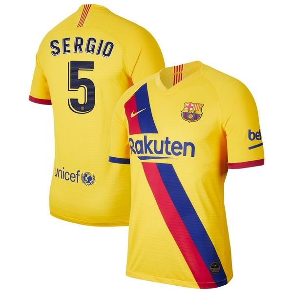 Барселона детская гостевая форма Серхио 5 2019-2020